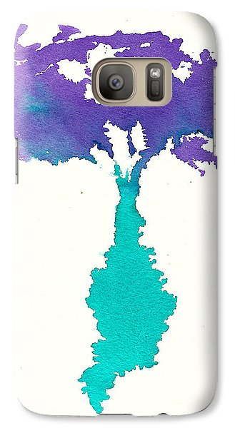 Galaxy Case featuring the painting Bouquet Abstract 2 by Frank Bright