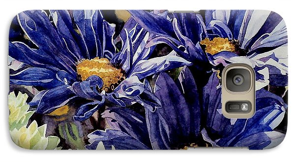 Galaxy Case featuring the painting Bouquet Blues by Jeffrey S Perrine