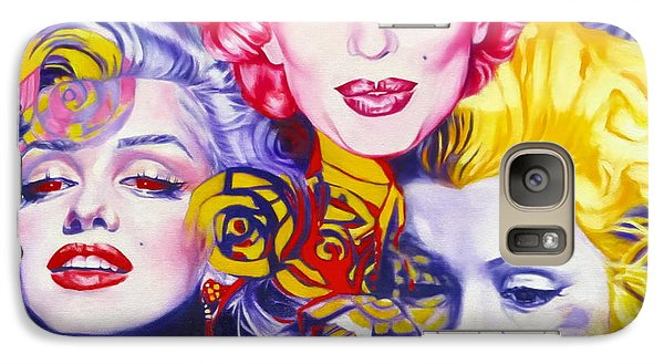 Galaxy Case featuring the painting Bouquet Of Marilyn by Rebecca Glaze