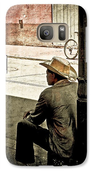Galaxy Case featuring the photograph Bourbon Cowboy In New Orleans by Ray Devlin