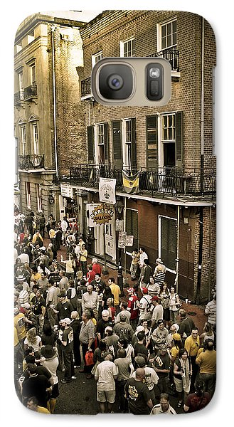 Galaxy Case featuring the photograph Bourbon Street Party by Ray Devlin