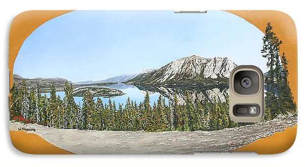 Galaxy Case featuring the painting Bove Island Alaska by Wendy Shoults