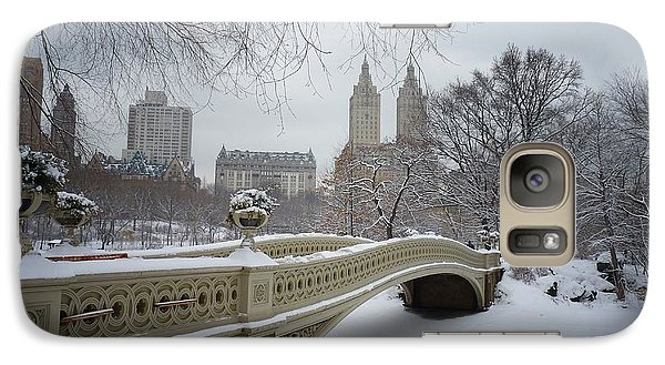 Bow Bridge Central Park In Winter  Galaxy Case by Vivienne Gucwa