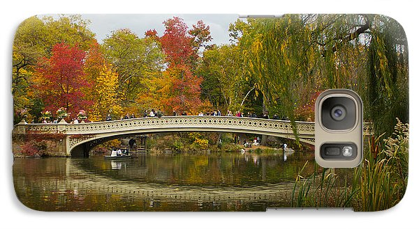 Galaxy Case featuring the photograph Bow Bridge Central Park Ny by Jose Oquendo
