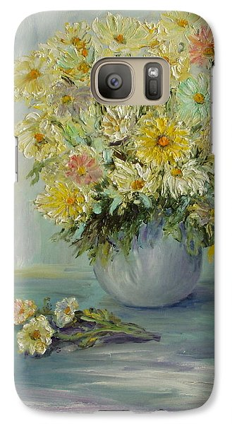Galaxy Case featuring the painting Bowl Of Daisies by Catherine Hamill