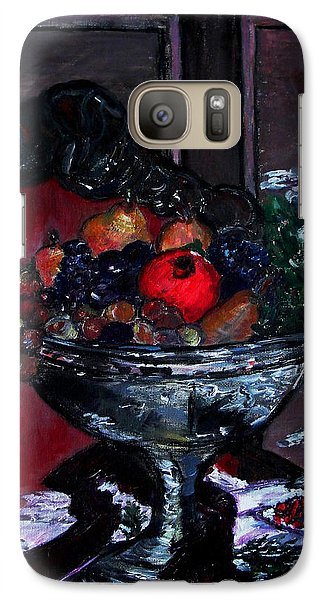 Galaxy Case featuring the painting Bowl Of Holiday Passion by Helena Bebirian