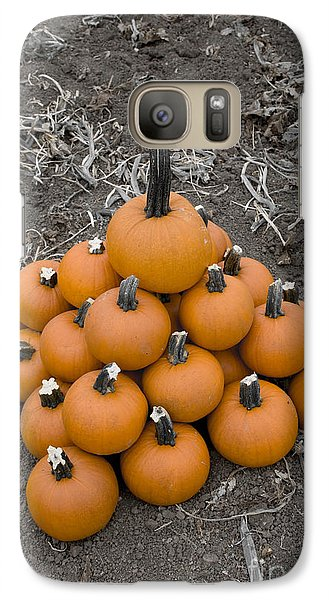 Galaxy Case featuring the photograph Bowling For Pumpkins by David Millenheft