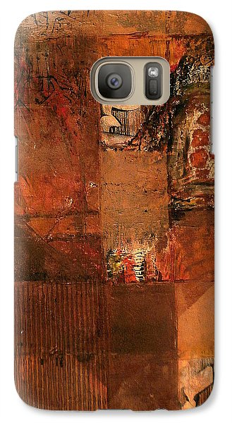 Galaxy Case featuring the painting Box O' Rocks by Buck Buchheister