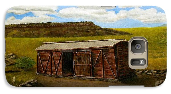 Galaxy Case featuring the painting Boxcar On The Plains by Sheri Keith