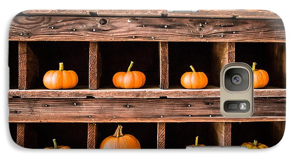 Galaxy Case featuring the photograph Boxed In Pumpkins by Dawn Romine