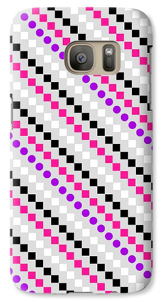 Boxed Stripe Galaxy Case by Louisa Hereford
