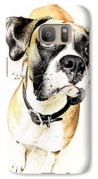 Galaxy Case featuring the photograph Boxer Dog Poster by Peter v Quenter