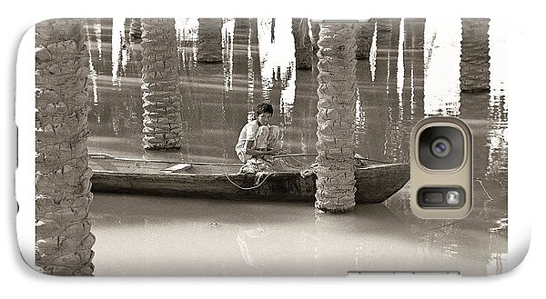 Galaxy Case featuring the photograph Boy Fishing by Tina Manley