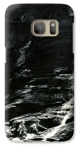 Galaxy Case featuring the photograph Boys And Falls by Christopher McKenzie