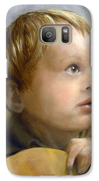 Galaxy Case featuring the painting Boy's Wonder by Lori Ippolito