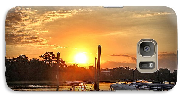 Galaxy Case featuring the photograph Bradley Creek Sunday Sunrise #3 by Phil Mancuso