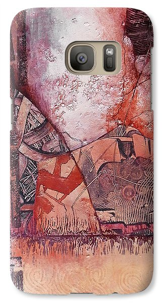Galaxy Case featuring the painting Brain Cell Replacement Therapy by Buck Buchheister