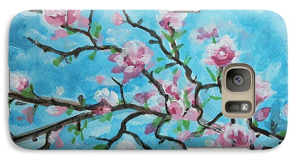 Galaxy Case featuring the painting Branches In Bloom by Elizabeth Robinette Tyndall
