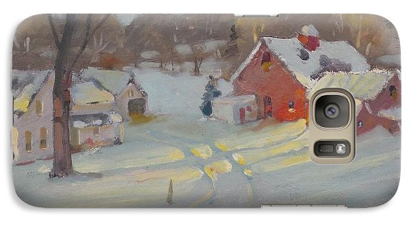 Galaxy Case featuring the painting Brandon Farm by Len Stomski