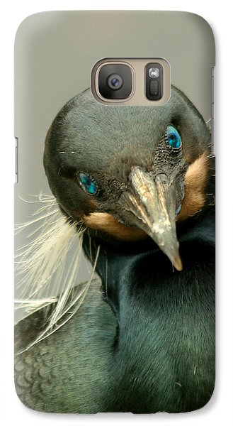 Galaxy Case featuring the photograph Brandt's Cormorant by Bob and Jan Shriner