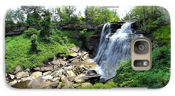 Galaxy Case featuring the photograph Brandywine Falls Gorge by Dennis Lundell
