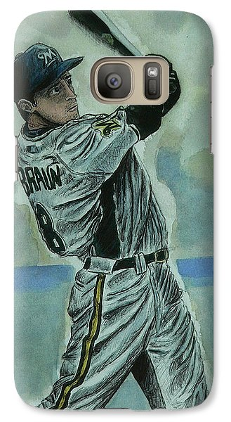 Galaxy Case featuring the painting Braun by Dan Wagner