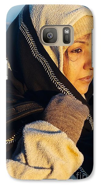 Galaxy Case featuring the photograph Braving The Cold by Fotosas Photography