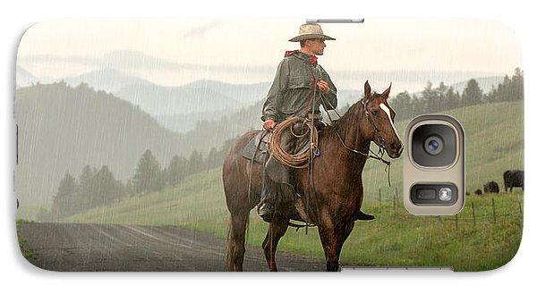 Rural Scenes Galaxy S7 Case - Braving The Rain by Todd Klassy