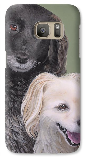 Galaxy Case featuring the painting Brea And Randy by Jane Girardot