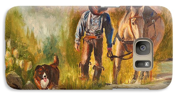 Galaxy Case featuring the painting Break For The Ride by Karen Kennedy Chatham