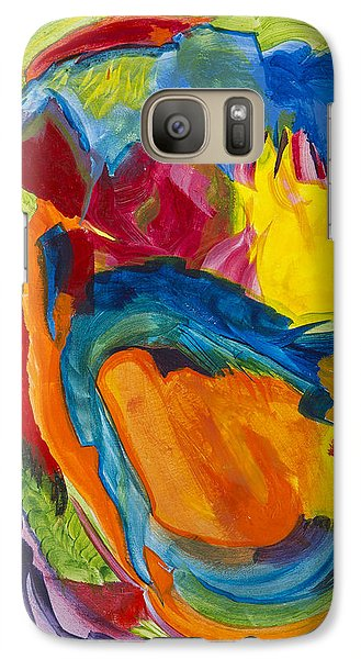 Galaxy Case featuring the painting Break Free by Cathy Long