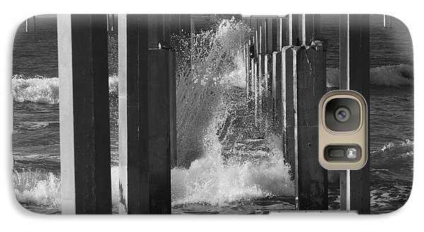 Galaxy Case featuring the photograph Breakers And Pier by Edward R Wisell