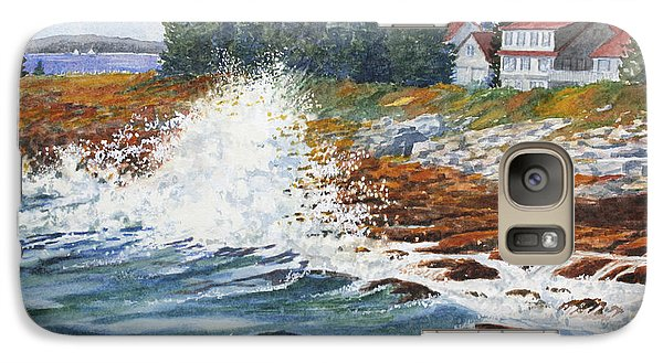 Galaxy Case featuring the painting Breakers At Pemaquid by Roger Rockefeller