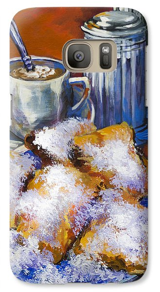 Galaxy Case featuring the painting Breakfast At Cafe Du Monde by Dianne Parks