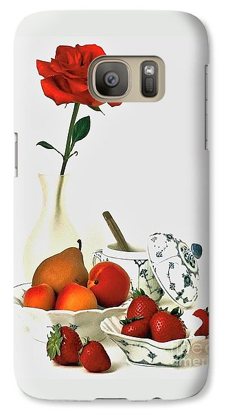 Galaxy Case featuring the photograph Breakfast For Lovers by Elf Evans