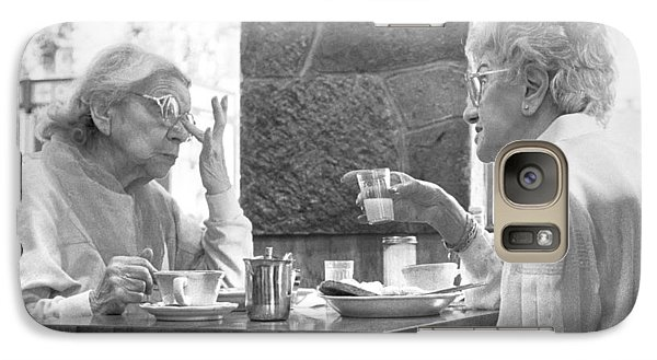Galaxy Case featuring the photograph Breakfast Ladies by Dave Beckerman
