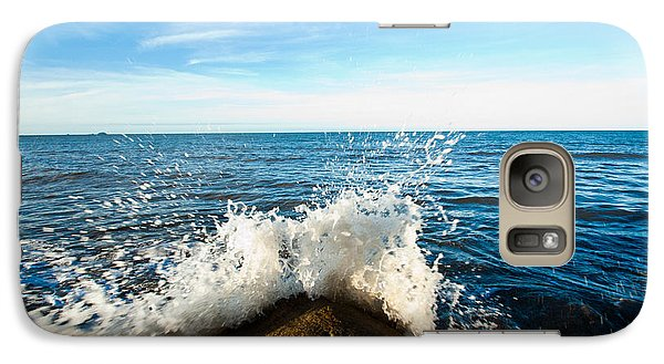 Galaxy Case featuring the photograph Breaking Waves by Carole Hinding