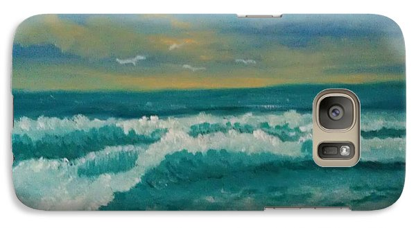 Galaxy Case featuring the painting Breaking Waves by Holly Martinson
