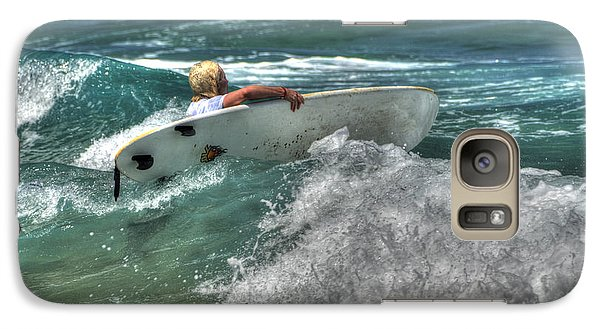 Galaxy Case featuring the photograph Breaking Waves by Julis Simo