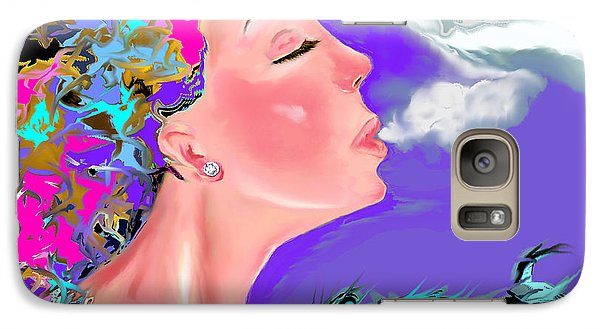 Galaxy Case featuring the drawing Just Breathe by Lori  Lovetere