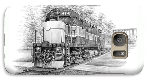 Galaxy Case featuring the drawing Brecksville Station - Cuyahoga Valley National Park by Kelli Swan