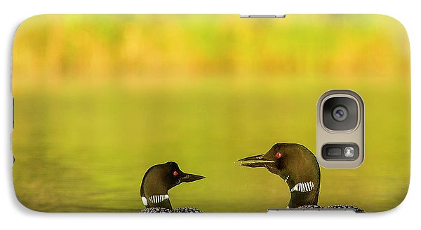 Loon Galaxy S7 Case - Breeding Pair Of Common Loons by Chuck Haney