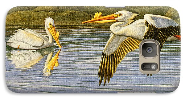 Pelican Galaxy S7 Case - Breeding Season- White Pelicans by Paul Krapf
