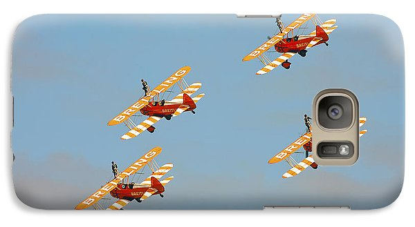 Galaxy Case featuring the photograph Breitling Wingwalkers by Paul Scoullar
