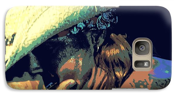 Galaxy Case featuring the photograph Bret Michaels With Harmonica by Michelle Frizzell-Thompson