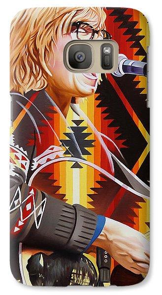 Galaxy Case featuring the painting Brett Dennen by Joshua Morton