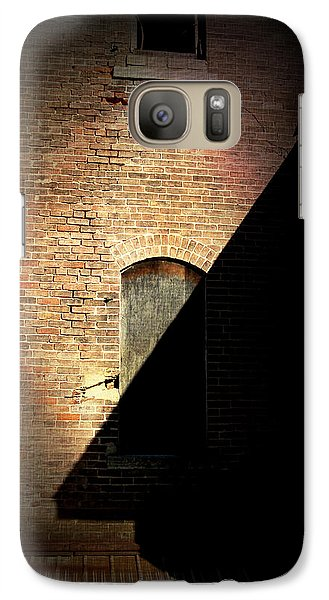 Galaxy Case featuring the photograph Brick And Shadow by Cynthia Lassiter