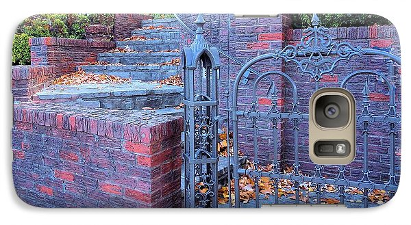 Galaxy Case featuring the photograph Brick Wall With Wrought Iron Gate by Janette Boyd