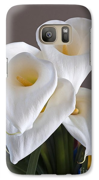 Galaxy Case featuring the photograph Bridal Cali Lilies by Lula Adams