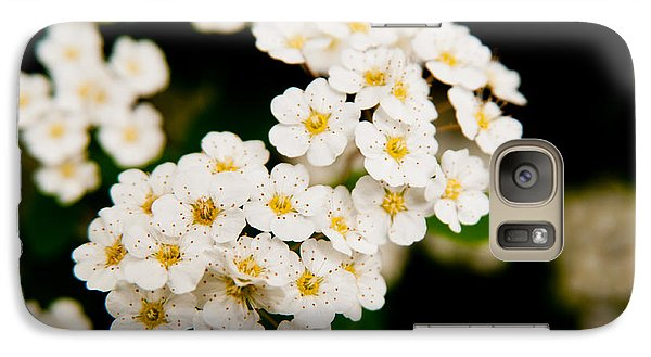 Galaxy Case featuring the photograph Bridal Veil Spirea by Brenda Jacobs